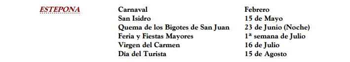 Feria: Festivales y Festivales en la provincia de Málaga 2020 1